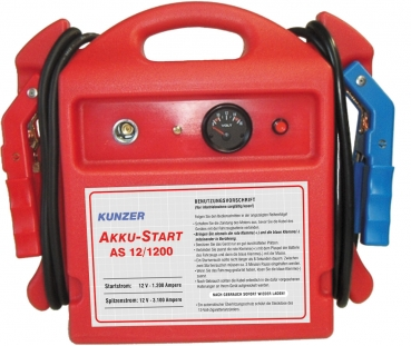 AKKU-START AS 12/1200 AKKU-Start, tragbar, 12V 3100/1200A<br>GERÄTE alle 3 Monate nachladen