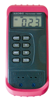 Busching 100307 Digital-Thermometer mit Differenzmessung -50°C bis +1300°C